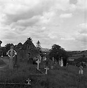 Cemetry at Ballyvoureen, Co Cork <br /> <br /> 14/07/1958.