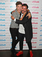 Charlie George & Andrea Faustini, Attitude Magazine's Hot 100 Summer Party, The Rumpus Room at the Mondrian Hotel, London UK, 20 July 2015, Photo by Brett D. Cove