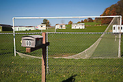 A mailbox marks the address of Hudson Valley Foie Gras in Ferndale, New York on October 12, 2008. Set on 200 scenic acres hid away in the Catskills, the factory farm houses, in free employee housing, a small, isolated and flourishing Mexican community.