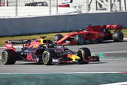 February 18, 2019 - Barcelona, Spain - the Red Bull of Max Verstappen and the Ferrari of Sebastian Vettel during the Formula 1 test in Barcelona, on 18th February 2019, in Barcelona, Spain. (Credit Image: © Joan Valls/NurPhoto via ZUMA Press)