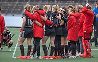 AMSTELVEEN - verliesende Amsterdammers  na de halve finale wedstrijd dames EURO HOCKEY LEAGUE (EHL),  Amsterdam-HC Den Bosch. (1-1) Den Bosch wint shoot outs en plaats zich voor de finale.  COPYRIGHT  KOEN SUYK