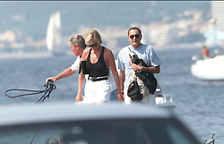 File photo of Lady Diana, Princess of Wales, with boyfriend Dodi Al Fayed spending their summer holiday in Saint-Tropez, south of France, on August 22, 1997. Princess Diana died on August 31, 1997 after suffering fatal injuries in a car crash in the Pont de l'Alma road tunnel in Paris. Her companion Dodi Fayed and driver and security guard Henri Paul were also killed in the crash. Photo by ABACAPRESS.COM  Diana of Wales Princesse Diana Princesse de Galles Diana de Galles Princess Diana of Wales Princess Diana Lady Dian Lady Diana Lady Di Princesse Diana de Galles Princess of Wales  | 594950_013 Saint-Tropez France