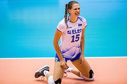 23-08-2017 NED: World Qualifications Greece - Slovenia, Rotterdam<br /> SloveniÎ wint met 3-0 / Ela Pintar #15 of Slovenia<br /> Photo by Ronald Hoogendoorn / Sportida