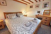 3rd September 2019<br /> The double bedroom, Bracken Beck barn conversion, Garsdale, Yorkshire Dales.