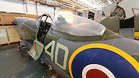 Supermarine Spitfire LF Mk XVIe TB675, Royal Air Force Museum Reserve Collection, RAF Stafford, 25 April 2014, Photo by Richard Goldschmidt