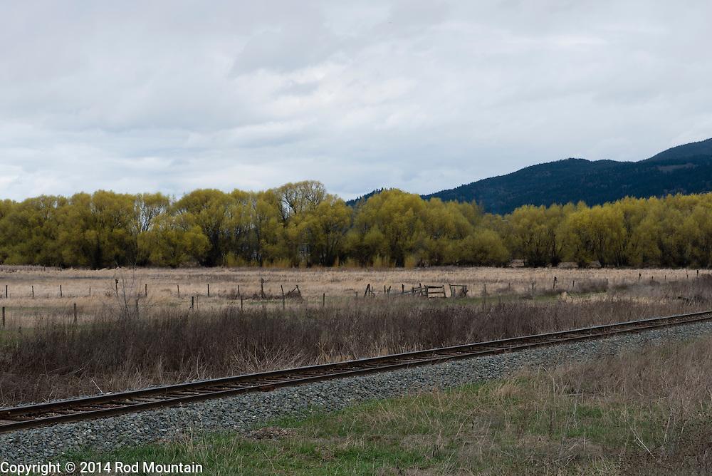 Farmland near Armstrong, British Columbia.
