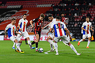 David Brooks (7) of AFC Bournemouth on the attack is surrounded by Crystal Palace players during the EFL Cup match between Bournemouth and Crystal Palace at the Vitality Stadium, Bournemouth, England on 15 September 2020.