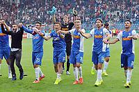 DETTE BILDET INNGÅR IKKE I FASTAVTALER PÅ NETT OG VIL BLI FAKTURERT VED SLIK BRUK.<br /> <br /> Fotball<br /> Tyskland<br /> 16.08.2014<br /> Foto: imago/Digitalsport<br /> NORWAY ONLY<br /> <br /> VfL Bochum vs. VfB Stuttgart<br /> DFB-Pokal<br /> <br /> Schlussjubel, von links: Selim Gündüz, Gündüz, privat, Onur Bulut, Yusuke Tasaka, Andreas Luthe (hinten), Henrik Gulden, Adnan Zahirovic, Marco Terrazzino (halb verdeckt), Danny Latza