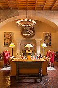 Lounge in Monasterio Hotel, a 16th century Spanish colonial Palace, Cusco, Peru, South America