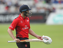 Gareth Harte of Durham Jets walks off dejected after being bowled out by Ryan McLaren of Lancashire Lightning - Mandatory by-line: Jack Phillips/JMP - 23/07/2017 - CRICKET - Emirates Old Trafford - Manchester, United Kingdom - Lancashire Lightning v Durham Jets - Natwest T20 Blast