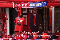 An Arsene Wenger cardboard cutout out the stadium