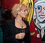 TANYA CHALKIN, Capturing Claudia. Interpretations of Claudia Schiffer by leading contemporary artists for Harpers Bazaar magazine. Colnaghis Gallery. Old Bond st. and afterwards at Locanda Locatelli's restaurant. Portman sq. London. 2 November 2009.