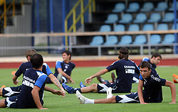 Mario Mandzukic at Practice od Dinamo Zagreb day before 1st match of 2nd Qualifying Round of UEFA Champions league between NK Domzale vs HNK Dinamo Zagreb, on July 29, 2008, in Domzale, Slovenia. (Photo by Vid Ponikvar / Sportal Images)