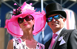 Mr. and Mrs. Heald during day three of Royal Ascot at Ascot Racecourse.