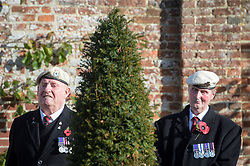 Veterans wear their medals and berets in the Royal Wootton Bassett Field of Remembrance at Lydiard park, Swindon, as it opens to honour and remember those who have been lost serving in the Armed Forces.