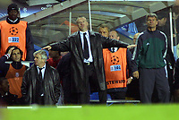 Didier Deschamps (Monaco manager) tells his players its all over. Chelsea v Monaco. Champions league semi final 2nd leg. 5/5/2004.<br /> Photo: Andrew Cowie, Digitalsport<br /> NORWAY ONLY