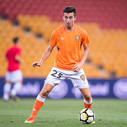 BRISBANE, AUSTRALIA - OCTOBER 13: Rahmat Akbari of the Roar warms up during the Round 2 Hyundai A-League match between Brisbane Roar and Adelaide United on October 13, 2017 in Brisbane, Australia. (Photo by Patrick Kearney)