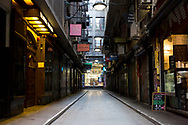 A view of Hosier Lane, normally bustling with cafes and diners remains unused during COVID-19 in Melbourne, Australia. Hotel quarantine linked to 99% of Victoria's COVID-19 cases, inquiry told. This comes amid a further 222 new cases being discovered along with 17 deaths. Melbourne continues to reel under Stage 4 restrictions with speculation that it will be extended. (Photo by Dave Hewison/Speed Media)