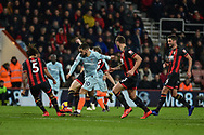 Chelsea Forward, Eden Hazard (10) runs at the Bournemouth defence during the Premier League match between Bournemouth and Chelsea at the Vitality Stadium, Bournemouth, England on 30 January 2019.