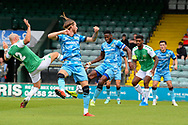 Goal 0-1 - Jamille Matt (14) of Forest Green Rovers scores the opening goal during the Pre-Season Friendly match between Yeovil Town and Forest Green Rovers at Huish Park, Yeovil, England on 31 July 2021.
