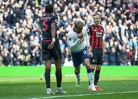 Football - 2018 / 2019 Premier League - Tottenham Hotspur vs. Huddersfield Town<br /> <br /> Lucas Moura (Tottenham FC)  turns away after scoring at The Tottenham Hotspur Stadium.<br /> <br /> COLORSPORT/DANIEL BEARHAM