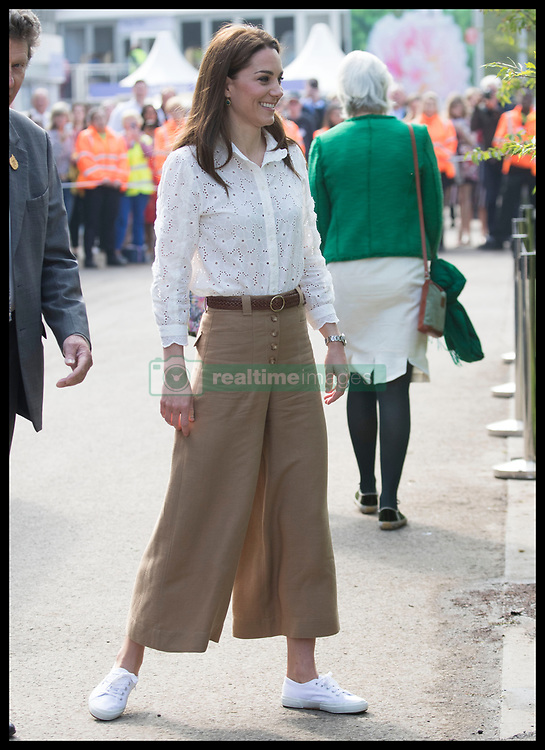 May 20, 2019 - London, London, United Kingdom - Image licensed to i-Images Picture Agency. 20/05/2019. London, United Kingdom. The Duchess of Cambridge arriving at her  ÔBack to NatureÃ• Garden that she helped design at the Chelsea Flower Show in London. (Credit Image: © Stephen Lock/i-Images via ZUMA Press)