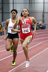 womens 500 meters, heat 4, BU<br /> BU John Terrier Classic <br /> Indoor Track & Field Meet