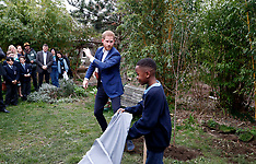 Prince Harry takes part in a tree planting project - 22 March 2019