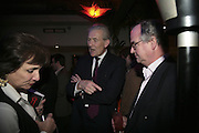 Georgina Boothby, Geoff Goad and Julian Paul,  Book launch for ' What Did I Do last night' by Tom Sykes. Century Club. Shaftesbury Ave. London. 16 January 2006. -DO NOT ARCHIVE-© Copyright Photograph by Dafydd Jones. 248 Clapham Rd. London SW9 0PZ. Tel 0207 820 0771. www.dafjones.com.