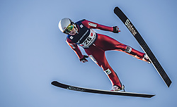 30.09.2018, Energie AG Skisprung Arena, Hinzenbach, AUT, FIS Ski Sprung, Sommer Grand Prix, Hinzenbach, im Bild Mackenzie Boyd-Clowes (CAN) // Mackenzie Boyd-Clowes of Canada during FIS Ski Jumping Summer Grand Prix at the Energie AG Skisprung Arena, Hinzenbach, Austria on 2018/09/30. EXPA Pictures © 2018, PhotoCredit: EXPA/ JFK