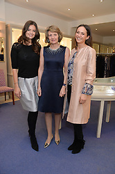Left to right, LADY NATASHA RUFUS-ISAACS, KIKI McDONOUGH and LAVINIA BRENNAN at a preview of the latest collections by jewellery designer Kiki Mcdonough and fashion label Beulah held at Kiki McDonough Jewellery, 12 Symons Street, London on 5th March 2014.