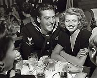 1942 Victor Mature and Rita Hayworth at the Mocambo Nightclub