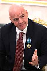May 23, 2019 - Moscow, Russia - May 23, 2019. - Russia, Moscow. - FIFA President Gianni Infantino during a meeting with Russian President Vladimir Putin at the Moscow Kremlin. (Credit Image: © Russian Look via ZUMA Wire)
