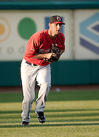 Left fielder for the Portland Sea Dogs Alex Hassan.  (Karen Bobotas/for the Concord Monitor)