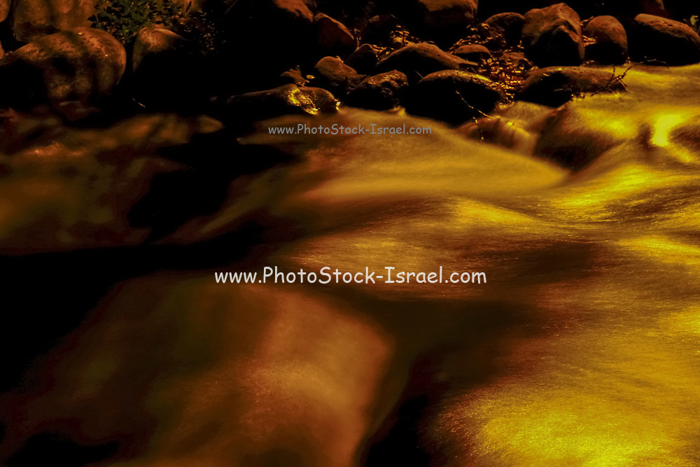 Gushing water in a stream - Long exposure