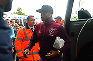 Andre Ayew of West Ham arrives at The Hawthorns. Premier league match, West Bromwich Albion v West Ham United at the Hawthorns stadium in West Bromwich, Midlands on Saturday 16th September 2017. pic by Bradley Collyer, Andrew Orchard sports photography.