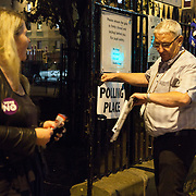 It is ten o'clock and the referendum is finished. <br /> <br /> Scottish referendum in Edinburgh. All through out the day a huge number of voters turned out asll over Scotland to vote in the independence referendum. The polls were open from 7am till 10pm and the count went on through-out the night with the final results announced early in the following morning.