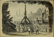 Scene design from 'Le voyage dans la Lune' [A Trip to the Moon] is an 1875 opéra-féerie in four acts and 23 scenes by Jacques Offenbach. Loosely based on the 1865 novel From the Earth to the Moon by Jules Verne, its French libretto was by Albert Vanloo, Eugène Leterrier and Arnold Mortier.[