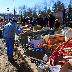 Gordonville, PA, USA / March 10, 2018: A wide variety of items will be sold at the annual Lancaster County Mud Sale at the Gordonville Fire Company.