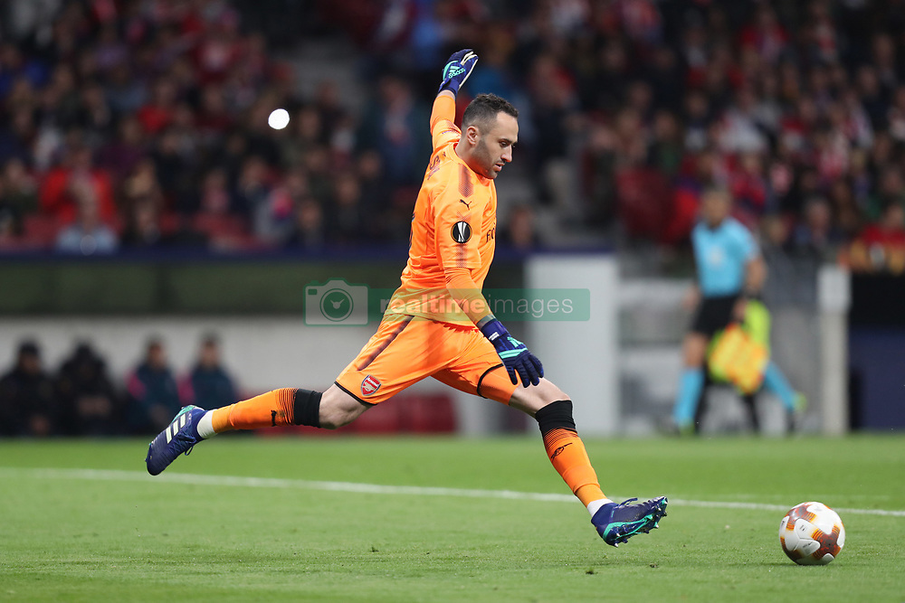 May 3, 2018 - Madrid, Spain - DAVID OSPINA of Arsenal FC during the UEFA Europa League, semi final, 2nd leg football match between Atletico de Madrid and Arsenal FC on May 3, 2018 at Metropolitano stadium in Madrid, Spain (Credit Image: © Manuel Blondeau via ZUMA Wire)