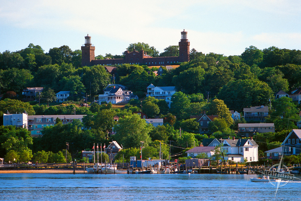 View of Highland New Jersey with the Twin Lights.
