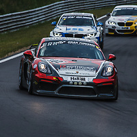 #302, Porsche Cayman GT4 CS, Aimpoint Racing by Rothfuss Best Gabion, drivers: Axel Friedhoff, Max Friedhoff, Jan Kasperlik, Andreas Serrano at ADAC Total 24-Hour Race on 22.06.2019 at Nürburgring Nordschleife