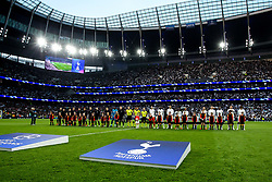 Tottenham Hotspur and Ajax line up ahead of their Champions League semi final - Mandatory by-line: Robbie Stephenson/JMP - 30/04/2019 - FOOTBALL - Tottenham Hotspur Stadium - London, England - Tottenham Hotspur v Ajax - UEFA Champions League Semi-Final 1st Leg