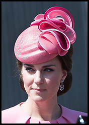 June 17, 2017 - London, London, United Kingdom - Image licensed to i-Images Picture Agency. 17/06/2017. London, United Kingdom. The duchess of Cambridge leaving Buckingham Palace for Trooping the Colour in London. Picture by Stephen Lock / i-Images (Credit Image: © Stephen Lock/i-Images via ZUMA Press)
