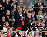 Photo: Jed Wee/Sportsbeat Images.<br /> Liverpool v Arsenal. The Barclays Premiership. 31/03/2007.<br /> <br /> Liverpool's new joint owners Tom Hicks (L) and George Gillett lead a standing ovation for Liverpool captain Steven Gerrard after he is substituted.