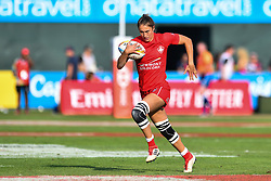 Kaili Lukan of Canada in action<br /> <br /> Photographer Craig Thomas/Replay Images<br /> <br /> World Rugby HSBC World Sevens Series - Day 2 - Friday 6rd December 2019 - Sevens Stadium - Dubai<br /> <br /> World Copyright © Replay Images . All rights reserved. info@replayimages.co.uk - http://replayimages.co.uk