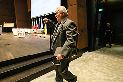 October 3, 2017 - Gdansk, Poland - Former President of Poland and Nobel Peace Prize winner Lech Walesa is seen in Gdansk, Poland, during the ''Solidarity in the 21 Century'' debate, on 3 October 2017 The theme of the debate was the present challenges facing the need for solidarity and the need to reflect on whether the world can still be solidarity during the Ukrainian-Russian conflict, the Syrian war and the ever-increasing number of refugees in the world. (Credit Image: © Michal Fludra/NurPhoto via ZUMA Press)