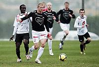 Fotball, 12. mars 2010 , Privatkamp , La Manga<br /> Fredrikstad - Sogndal<br /> <br /> Mattis Andersson , FFK<br /> Aye Aye Elvis , Sogndal