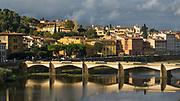 Ponte delle Grazie over the Arno river, Florence