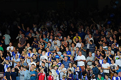 Bristol Rovers' fan  - Photo mandatory by-line: Dougie Allward/JMP - Tel: Mobile: 07966 386802 04/09/2013 - SPORT - FOOTBALL -  Ashton Gate - Bristol - Bristol City V Bristol Rovers - Johnstone Paint Trophy - First Round - Bristol Derby